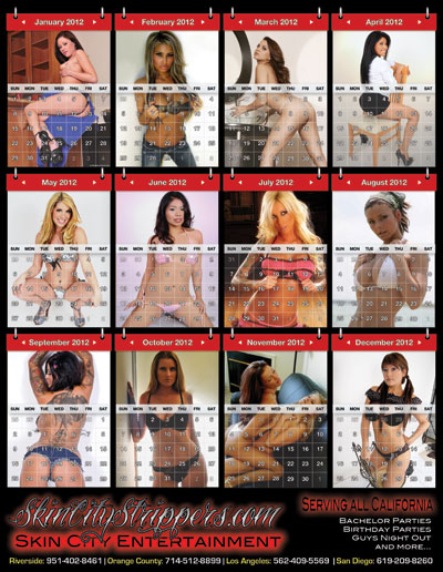 Skin City Strippers 2012 Calendar - Front