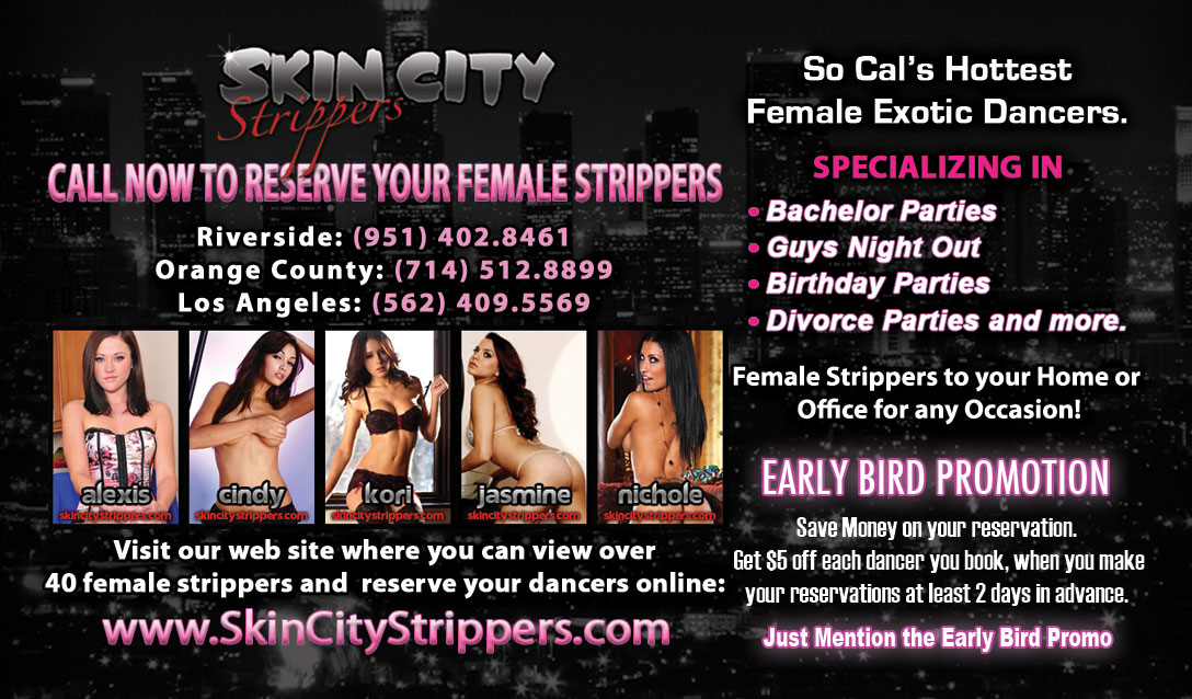Female Exotic Dancers Business Cards